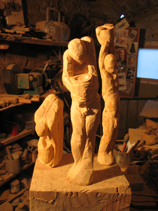 boxwood sculpture wood